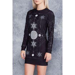 Sacred Geometry Sweater Dress